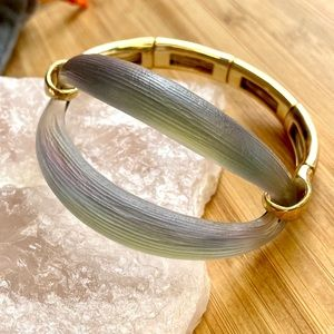 Alexis Bittar Satin Lucite Stretch Bracelet